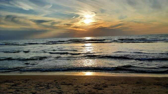 Sunset at the beach, Zeeland, Netherlands