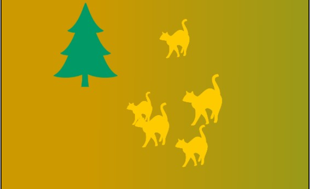 Fir-tree and a cat