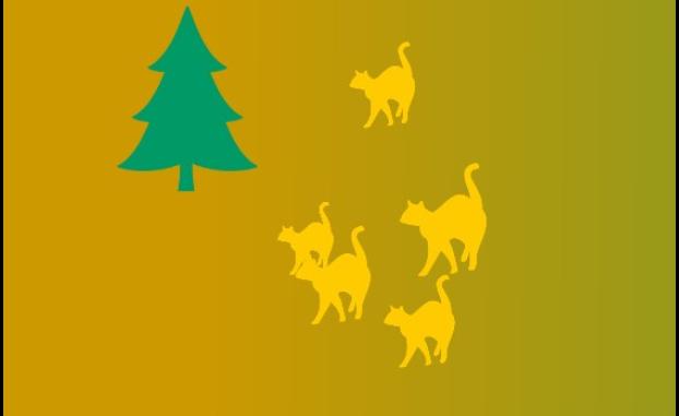 Fir-tree and a cat