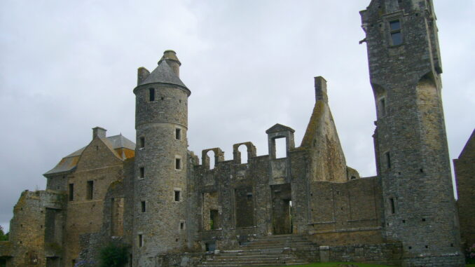 The castle of Gratot, Normandy, France